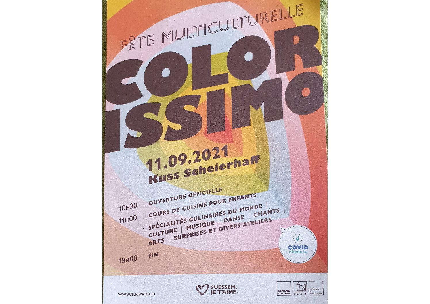 [AMIF] Our participation in the 2nd COLORISSIMO multicultural festival in Sanem (2021)